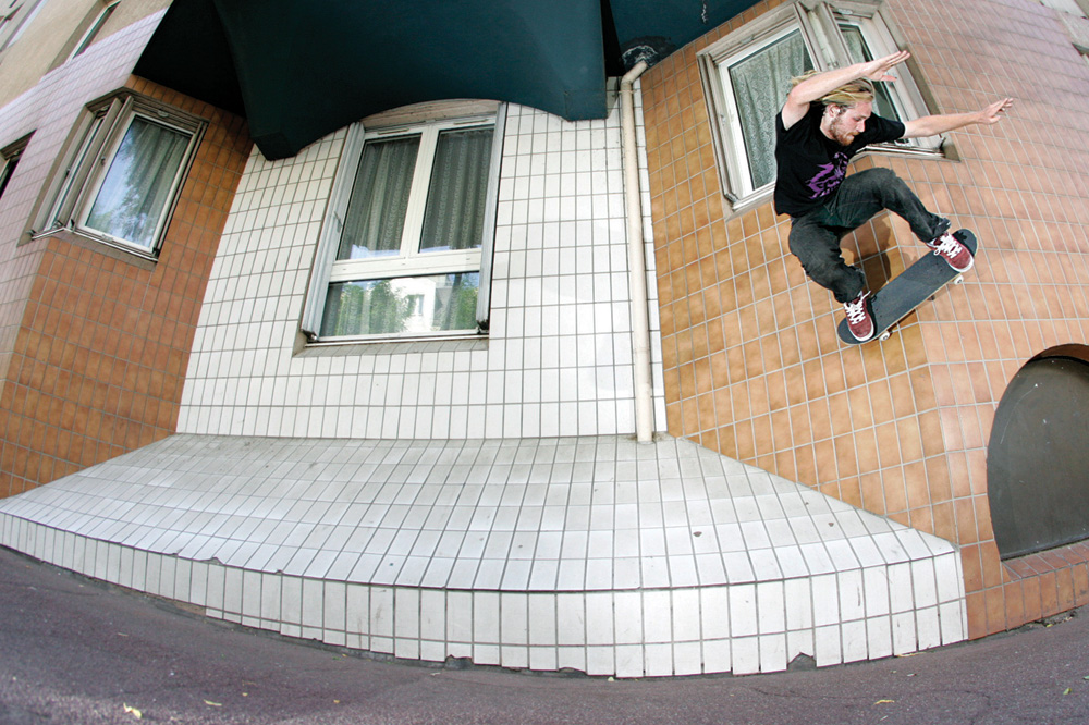 Jimmy ollie up wallride